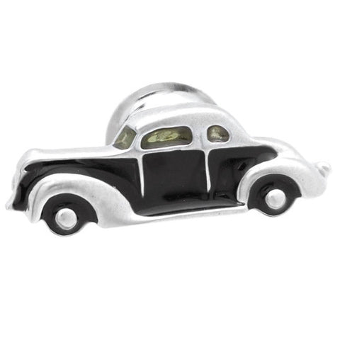 Black Classic Car Lapel Pin