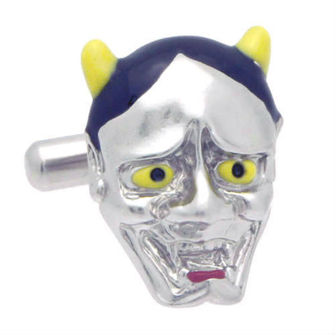 Japanese Classic MaskThis Mask is used for Noh Theater. Wear Hannya Cufflinks by Tokyo Cufflinks. They also are perfect gifts for groomsmen, friends, and husbands! These Cufflinks are hand made in Japan from high-quality sturdy rhodium. The cufflinks will come in a beautiful cufflink box.
