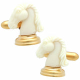 White Chess Piece Cufflinks
