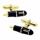 Gold & Black Fountain Pen Cufflinks