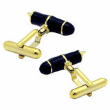 Gold & Black Fountain Pen Cufflinks. Wear your Gold & Black Fountain Pen Cufflinks by Tokyo Cufflinks. They also are perfect gifts for groomsmen, friends, and husbands! These Cufflinks are hand made in Japan from high-quality sturdy rhodium. The cufflinks will come in a beautiful cufflink box.