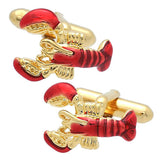Gold Lobster Cufflinks. Wear your Gold Lobster Cufflinks by Tokyo Cufflinks. They also are perfect gifts for groomsmen, friends, and husbands! These Cufflinks are hand made in Japan from high-quality sturdy rhodium. The cufflinks will come in a beautiful cufflink box.
