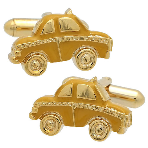 Yellow Cab Cufflink. Wear your Yellow Cab Cufflink by Tokyo Cufflinks. They also are perfect gifts for groomsmen, friends, and husbands! These Cufflinks are hand made in Japan from high-quality sturdy rhodium. The cufflinks will come in a beautiful cufflink box.