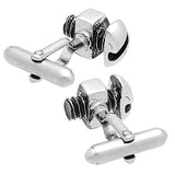 Silver Bolt & Nut Cufflinks