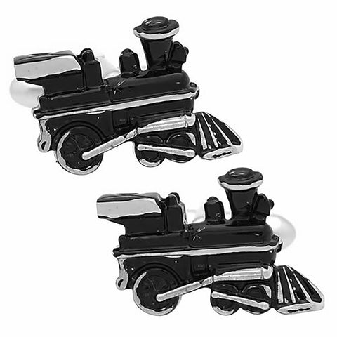 Black Train Cufflink. Wear your Black Train Cufflink by Tokyo Cufflinks. They also are perfect gifts for groomsmen, friends, and husbands! These Cufflinks are hand made in Japan from high-quality sturdy rhodium. The cufflinks will come in a beautiful cufflink box.