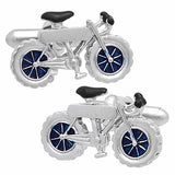 Silver Bicycle Cufflinks