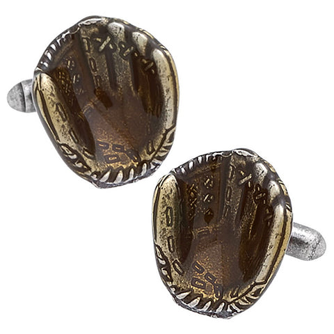 Baseball Glove Cufflinks. Wear your Baseball Glove Cufflinks by Tokyo Cufflinks. They also are perfect gifts for groomsmen, friends, and husbands! These Cufflinks are hand made in Japan from high-quality sturdy rhodium. The cufflinks will come in a beautiful cufflink box.