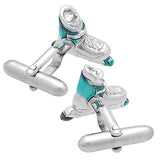 Roller Blade Skate Cufflinks. Wear your Roller Blade Skate Cufflinks by Tokyo Cufflinks. They also are perfect gifts for groomsmen, friends, and husbands! These Cufflinks are hand made in Japan from high-quality sturdy rhodium. The cufflinks will come in a beautiful cufflink box.