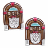 Brown Jukebox cufflinks. Wear your Brown Jukebox cufflinks by Tokyo Cufflinks. They also are perfect gifts for groomsmen, friends, and husbands! These Cufflinks are hand made in Japan from high-quality sturdy rhodium. The cufflinks will come in a beautiful cufflink box.