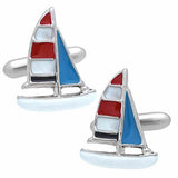 Marine Color Yacht Cufflinks