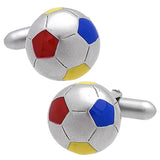 Soccer Ball (color) Cufflinks. Wear your Soccer Ball (color) Cufflinks by Tokyo Cufflinks. They also are perfect gifts for groomsmen, friends, and husbands! These Cufflinks are hand made in Japan from high-quality sturdy rhodium. The cufflinks will come in a beautiful cufflink box.