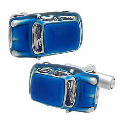 Blue Mini Cooper Cufflinks. Wear your Blue Mini Cooper Cufflinks by Tokyo Cufflinks. They also are perfect gifts for groomsmen, friends, and husbands! These Cufflinks are hand made in Japan from high-quality sturdy rhodium. The cufflinks will come in a beautiful cufflink box.