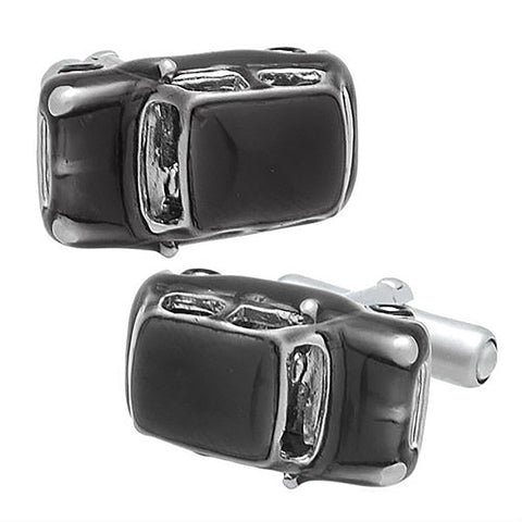 Black Mini Cooper Cufflinks. Wear your Black Mini Cooper Cufflinks by Tokyo Cufflinks. They also are perfect gifts for groomsmen, friends, and husbands! These Cufflinks are hand made in Japan from high-quality sturdy rhodium. The cufflinks will come in a beautiful cufflink box.
