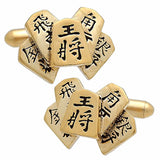 Shogi Piece Cufflink. Wear your Shogi Piece Cufflink by Tokyo Cufflinks. They also are perfect gifts for groomsmen, friends, and husbands! These Cufflinks are hand made in Japan from high-quality sturdy rhodium. The cufflinks will come in a beautiful cufflink box.