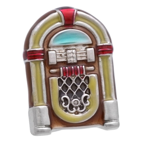 "It is a cute Yellow Jukebox Lapel Pin. Buy this cute Lapel Pin on the website and get delivered in a beautiful box. Size: Approximately 9/16"" × 3/4"" in. Material: Tin alloy / Western white / Rhodium plating / Epoxy resin. Color: Silver, Red, Yellow & Blue. Model: P0061"