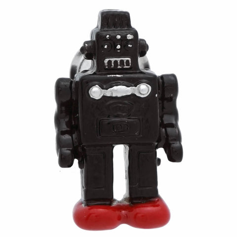 Black Robot Lapel Pin