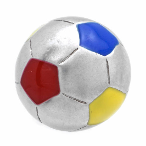 "It is a cute Color Soccer Ball Lapel Pin. Size: Approximately 3/8"" inch. Material: Brass · Plating paint · Epoxy resin. Color: Silver, Red, Yellow, Blue. Model: P0173"