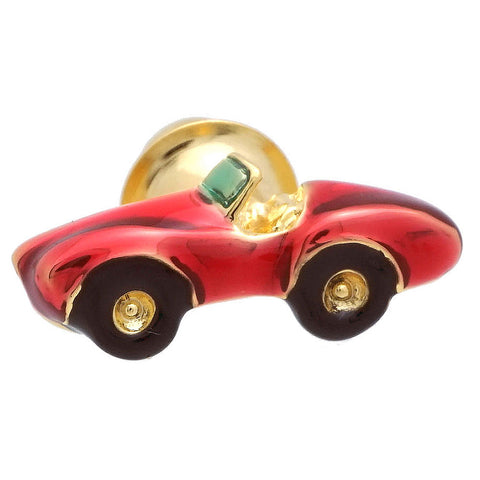 "It is a Wine Red Open Car Lapel Pin. To get this cute Lapel Pin, place an order on the website and get delivered in a beautiful box. Size: Approximately 3/8"" x 7/8"" inch . Material: Brass · Plating paint · Epoxy resin. Color: Red, Black, Yellow. Model: P0181"