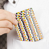 Orange & White Check Handade Card Case