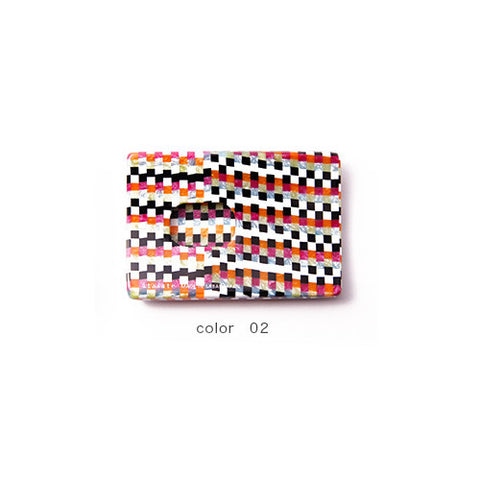 Multi Color Check Handade Card Case