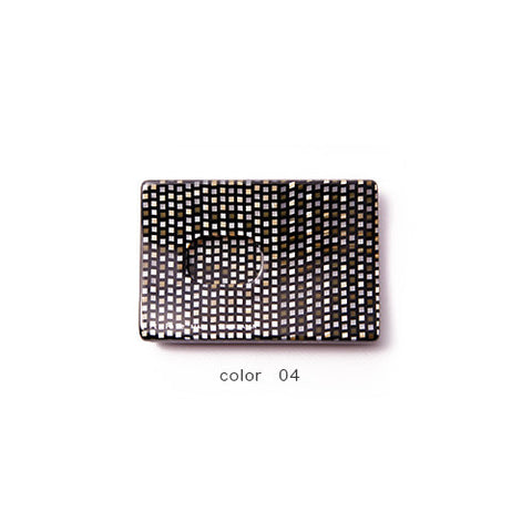 Chic Brown Check Handade Card Case