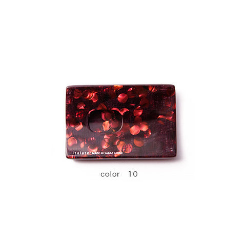 Red Marble Handade Card Case