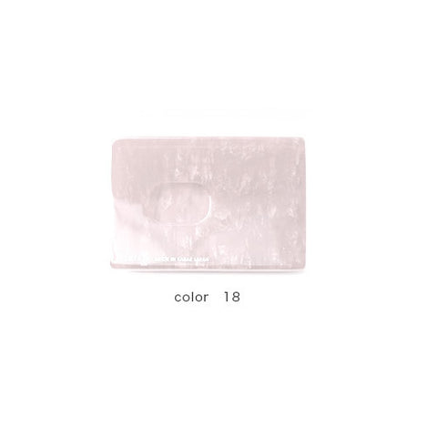 White Handade Card Case