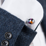 Kisso Marble Brown Handade Cufflinks
