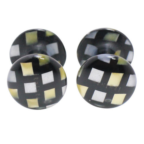Kisso Chic Brown Handade Cufflinks