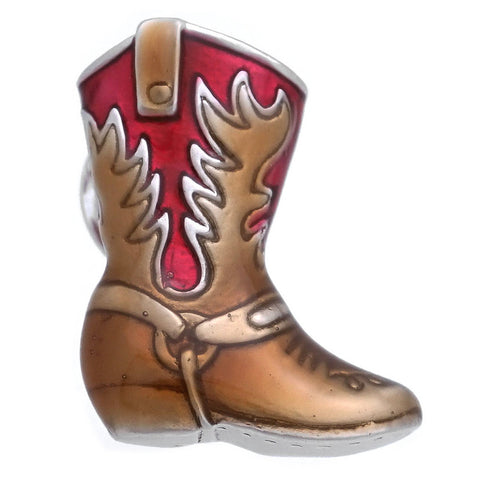 Red Western Boots Lapel Pin