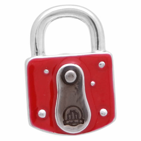 Red Padlock Key Lapel Pin