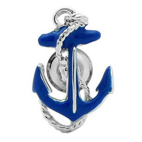 "It's a cute Blue Anchor Lapel Pin. To get this cute Lapel Pin, place an order on the website. Size: Approximately 1"" × 5/8"" inch. Material: Tin alloy / Western white / Rhodium plating / Epoxy resin. Color: Silver & Blue. Model: P0150"
