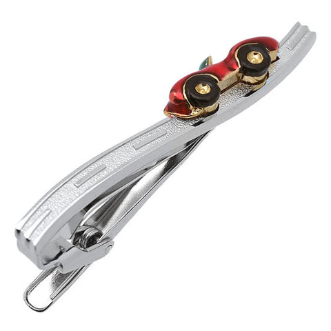Wine Red Open Car Tie Clips