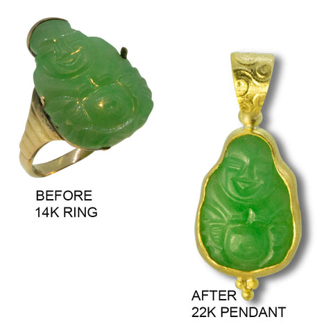 Before and After Jade Buddha