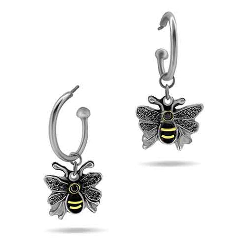 Bumble Bee Earrings - Silver Granulation and 22 karat gold
