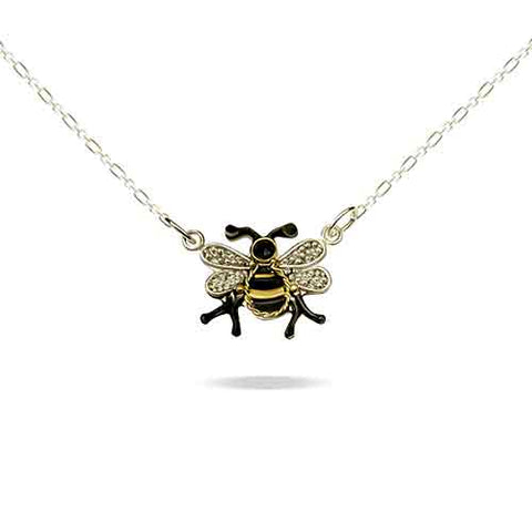 Bumble Bee Necklace - Silver Granulation and 22 karat gold