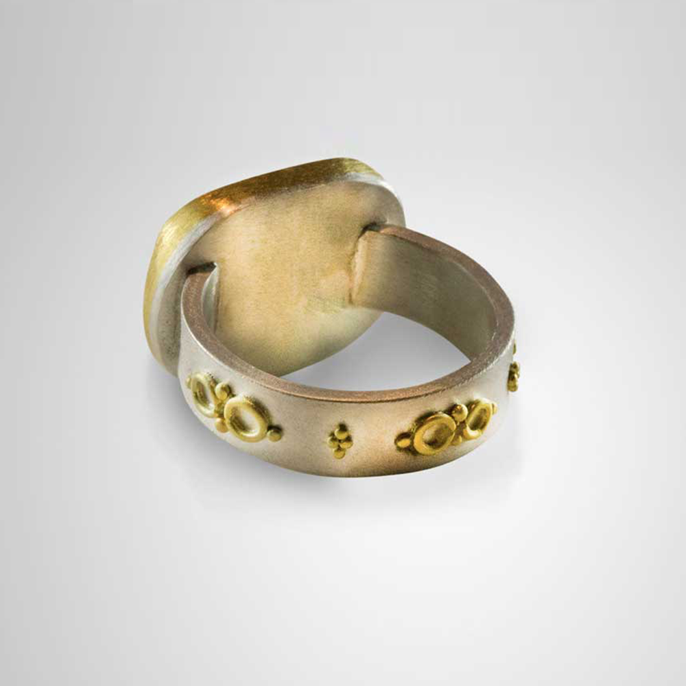 Salamander Venetian Glass Intaglio Ring - Nancy Troske Jewelry