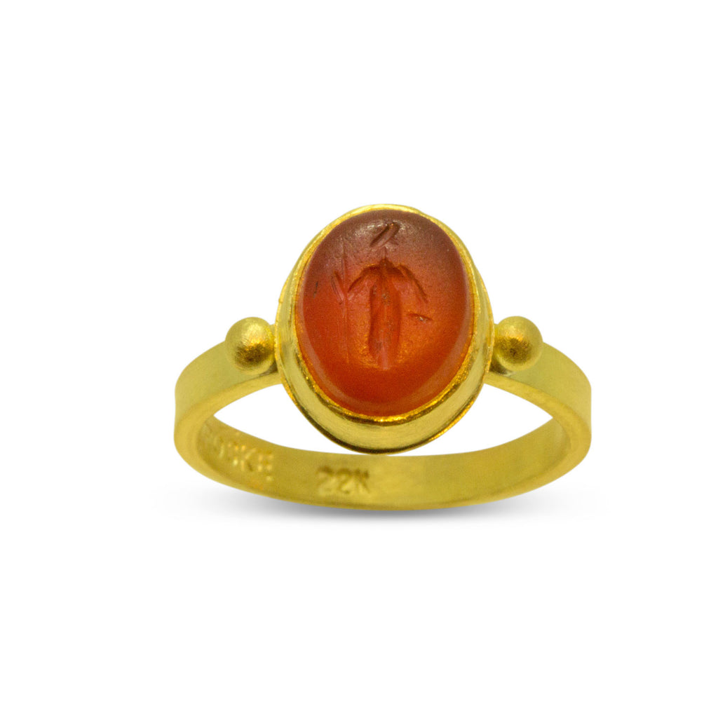 Ancient Roman Intaglio Ring - Nancy Troske Jewelry
