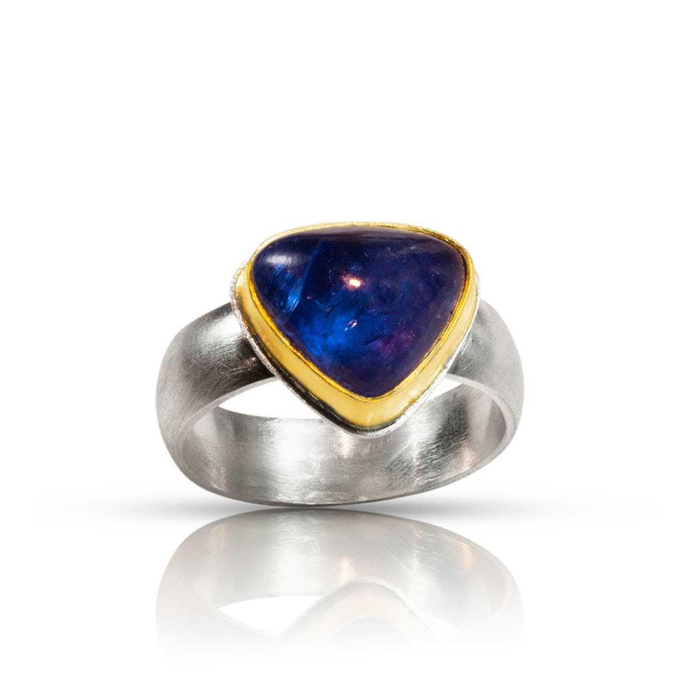 Tanzanite Heart Ring - Nancy Troske Jewelry