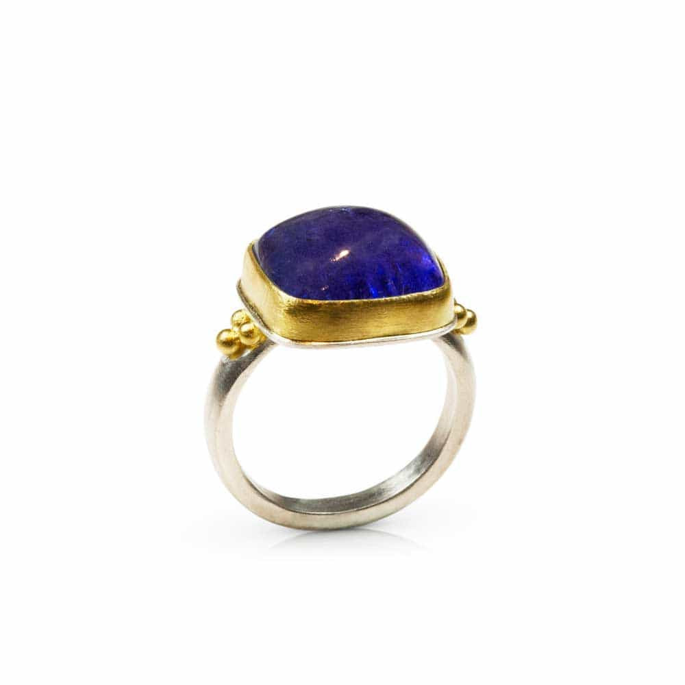 Tanzanite Rectangle Ring  - Nancy Troske Jewelry