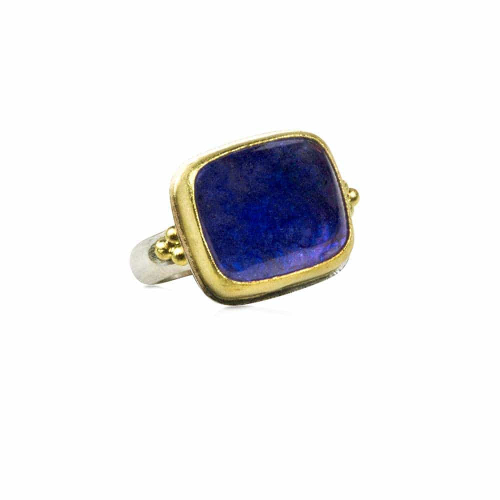 Tanzanite Rectangle Ring Item - Nancy Troske Jewelry
