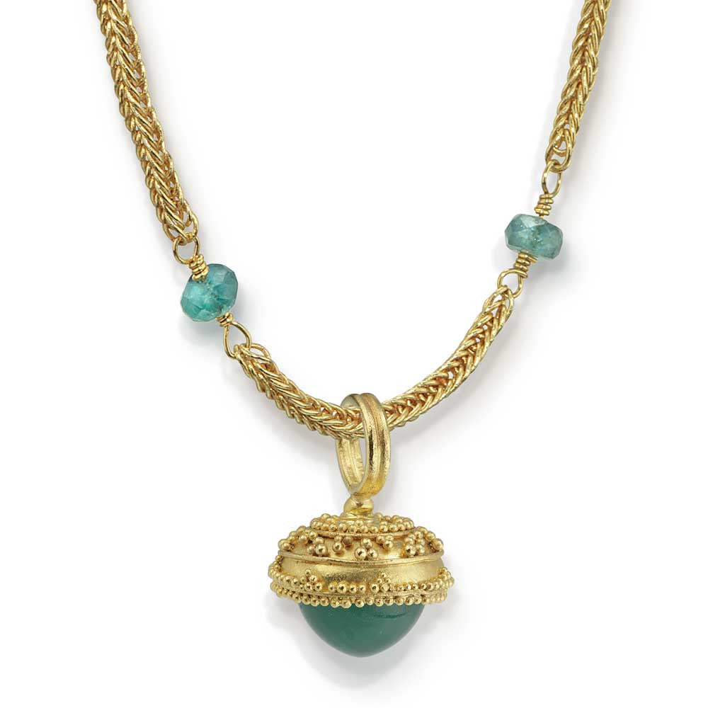 Granulated Gold Acorn - Nancy Troske Jewelry