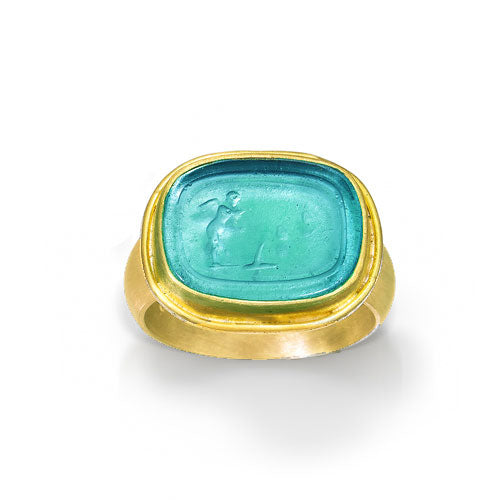 Special Order Murano Glass 18K and 22K Ring