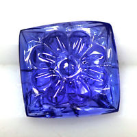 Custom Order Square Carved Tanzanite Ring - Private Order For D.H.