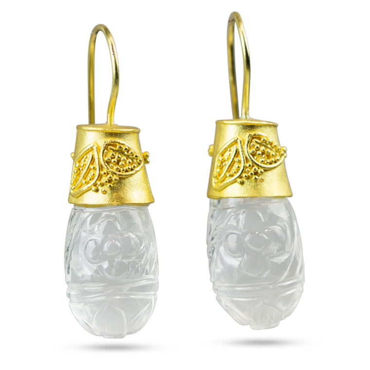 Nancy Troske Jewelry - Carved Crystal Earrings
