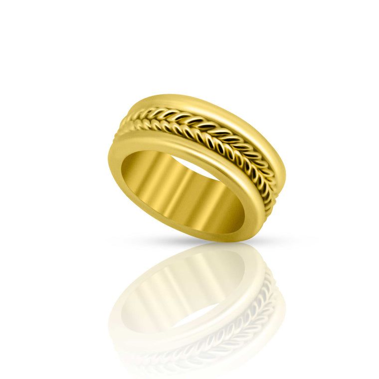 Double Braid 22K Wedding Ring - Nancy Troske Jewelry