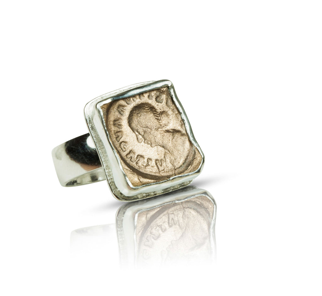 Empress Faustina Bronze and Silver Ring - Nancy Troske Jewelry