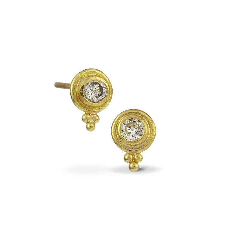 22k Diamond Stud Earrings