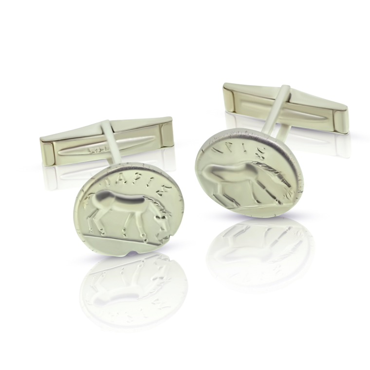 Grazing Horse Cuff Links - Nancy Troske Jewelry