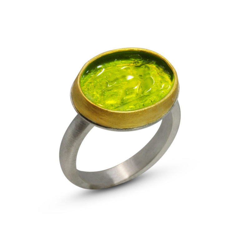 Nancy Troske Jewelry - intaglio ring in 22K and silver
